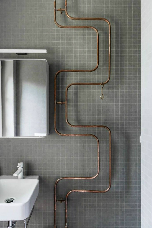 vintage industrial bathroom design 8