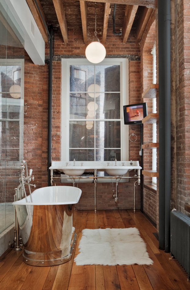 Super 20 Bathroom Designs With Vintage Industrial Charm Decoholic Largest Home Design Picture Inspirations Pitcheantrous