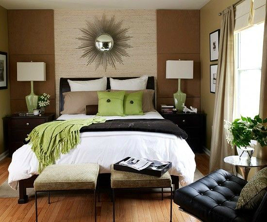 black brown white green bedroom color scheme - Bedroom Color Schemes