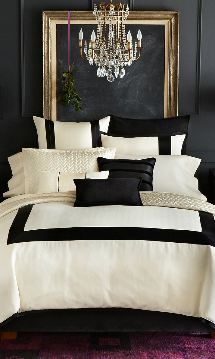 Navy blue and pink bedroom - Black And White Bedroom Color Scheme