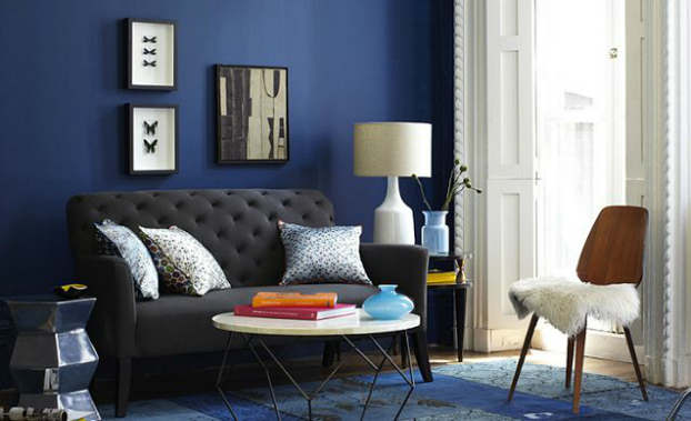 blue small living room