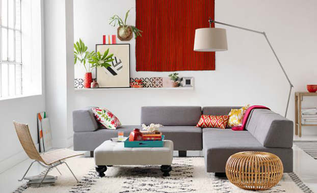 bright vibrant living room