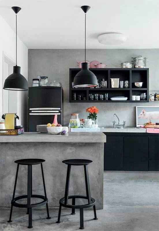 concrete industrial kitchen