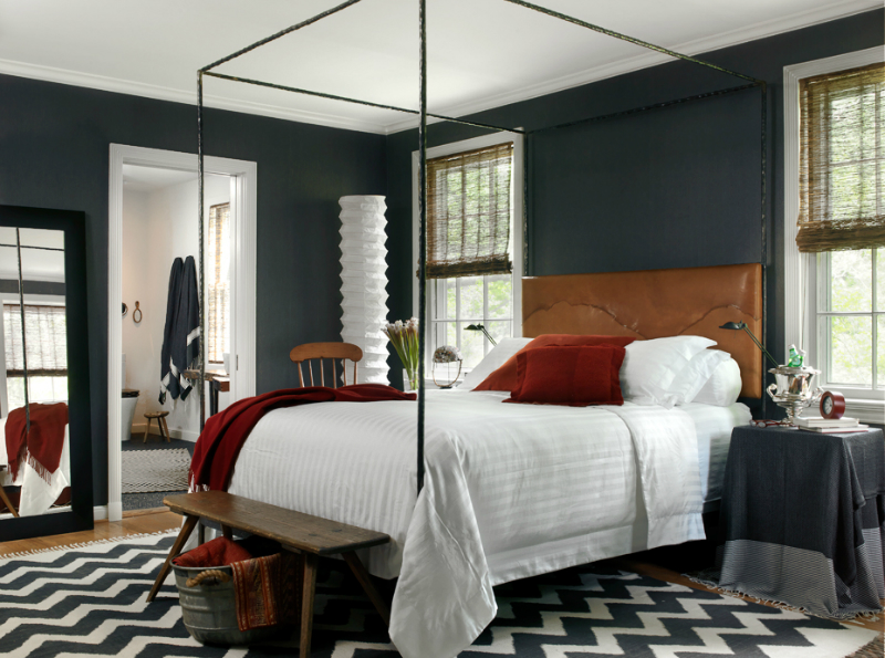 dark gray with brown bedroom color scheme - Bedroom Color Schemes