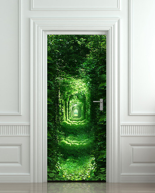 10 cool wall door stickers murals decoholic for Door mural wallpaper