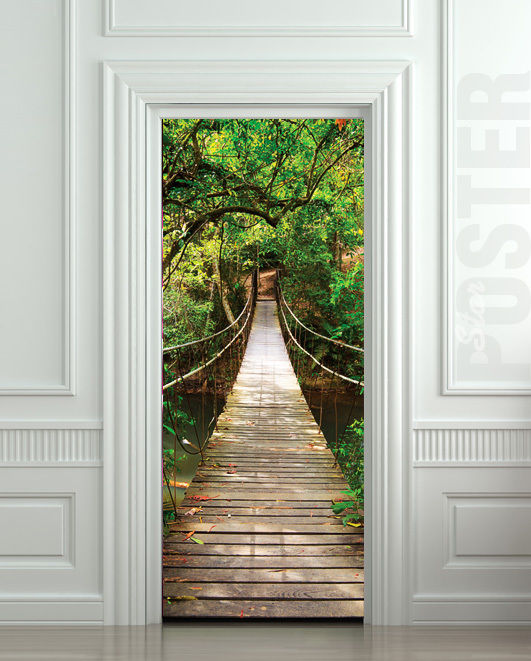 10 cool wall door stickers murals decoholic for Door wall mural