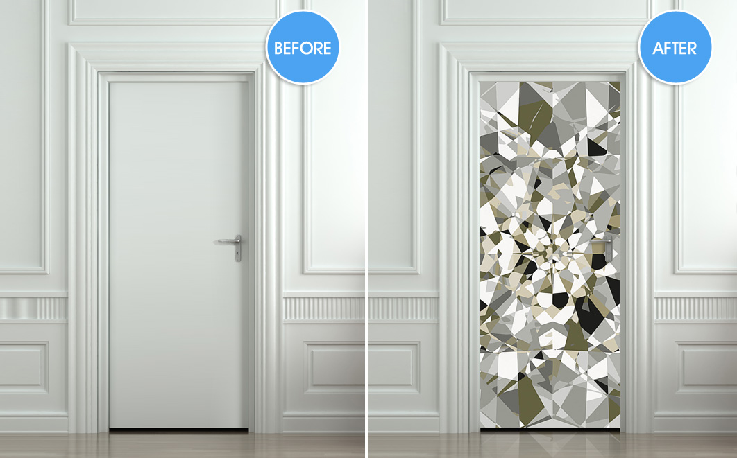 10 cool wall door stickers murals decoholic for Unique interior door ideas