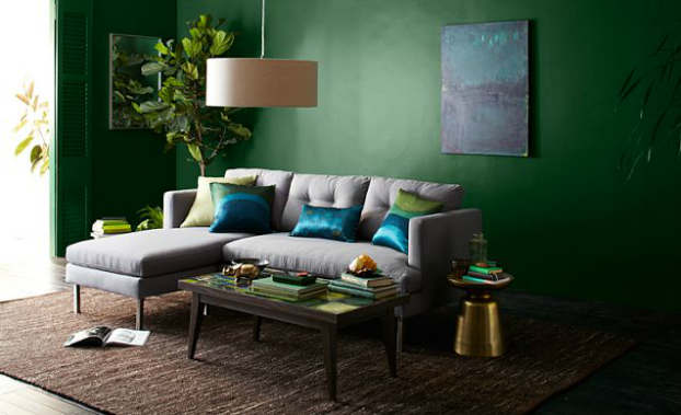 earthy eclectic living room decorating idea