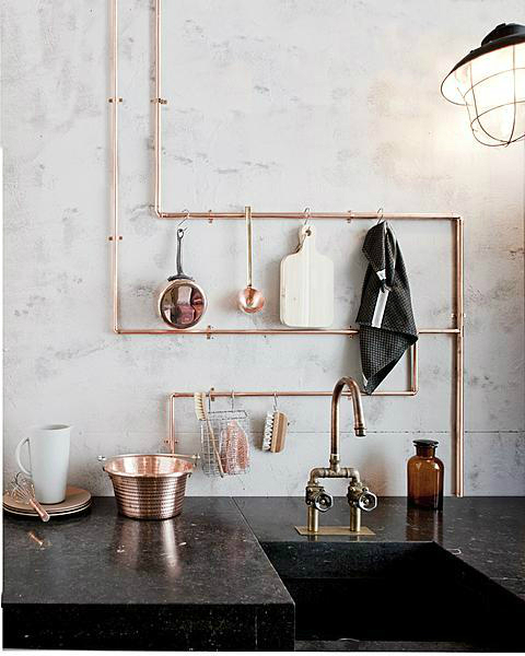 exposed copper piping home decor trends