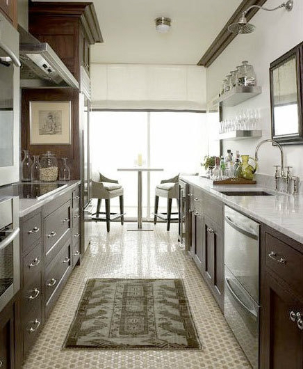 47 best galley kitchen designs decoholic for Galley kitchen designs