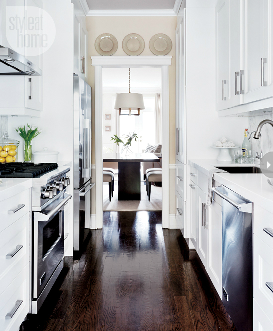 Kitchen Remodel White: 47 Best Galley Kitchen Designs