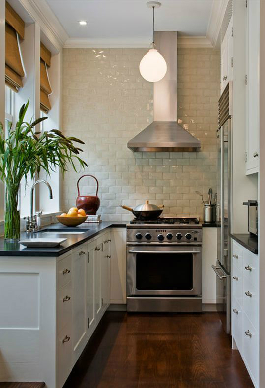 galley kitchen infused with character