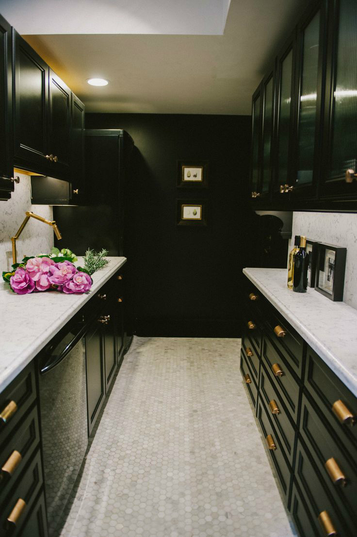 black and white kitchen cabinet 47 best galley kitchen designs decoholic 12312