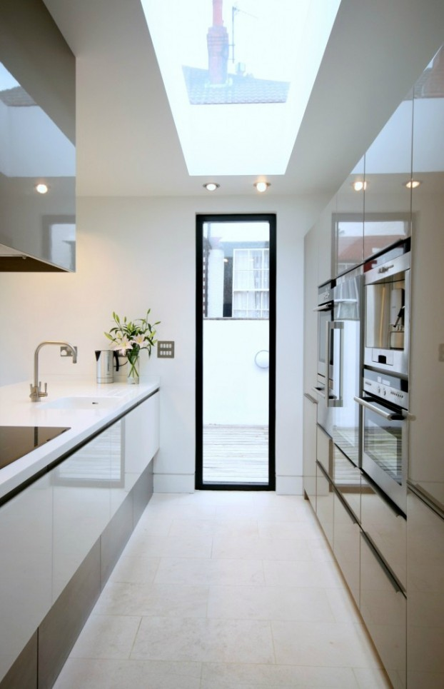 galley kitchen design idea 35