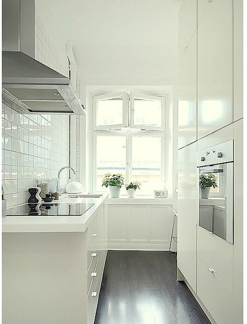 Galley Kitchen Designs White 47 best galley kitchen designs - decoholic