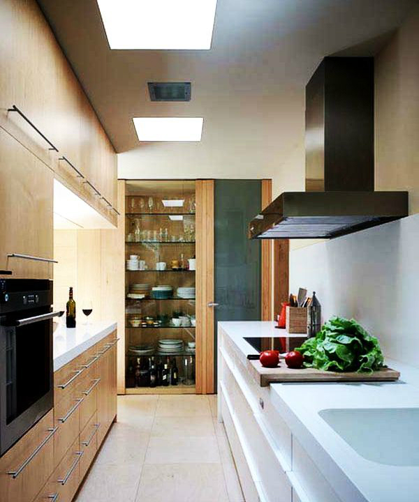 Kitchen Decorating Ideas For Small Spaces Part - 29: ... Galley Kitchen Design Idea 43 ...