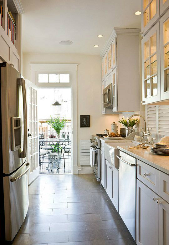Small White Galley Kitchen Ideas with Small Galley Kitchen Designs ...
