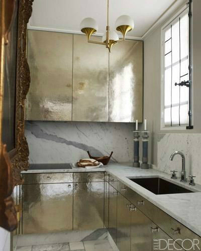 gold and silver kitchen home decor trends 2014