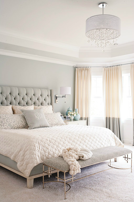 gray white tan bedroom color combo