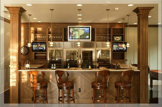 Stunning home bar areas decoholic - Basement bar layout ideas ...