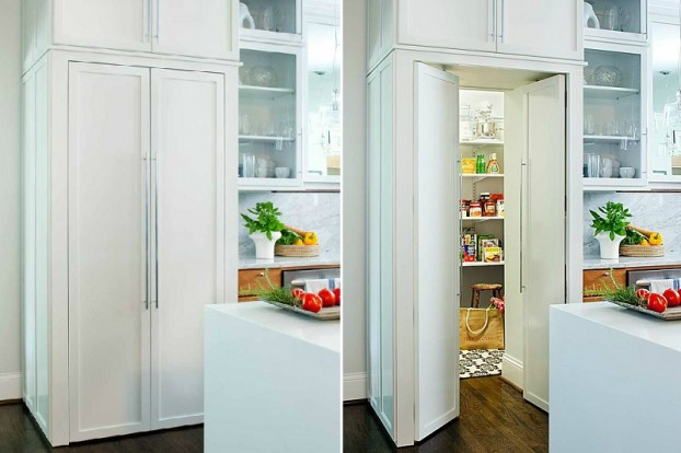 pantry door to look like kitchen cabinets