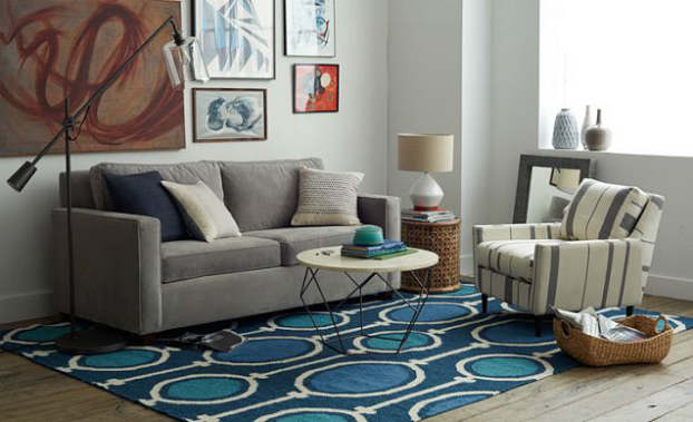 laid back pattern living room