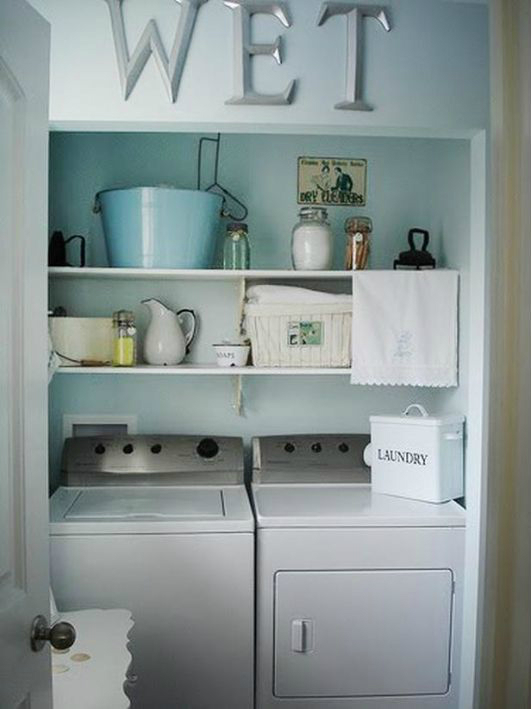 22 laundry room ideas decoholic for Decorate a laundry room