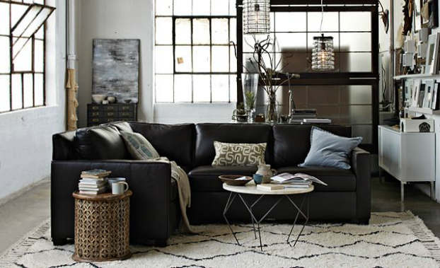 48 pretty living room ideas in multiple decorating styles for Industrial living room ideas