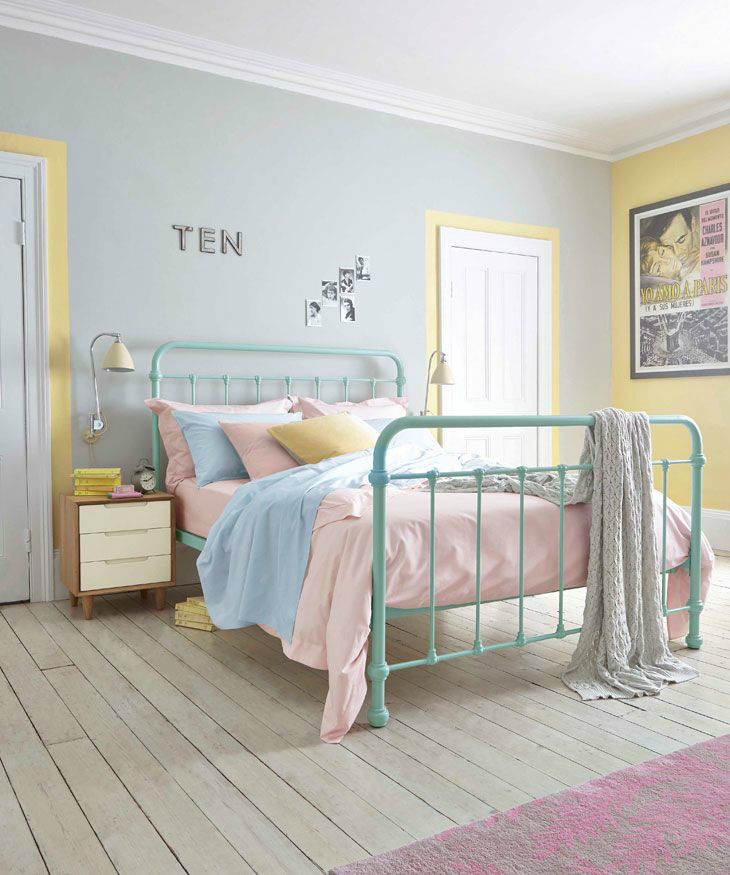 pastel color scheme is soothing and creates a restful tranquil