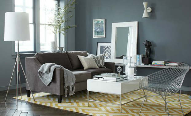 patterned living room decorating idea
