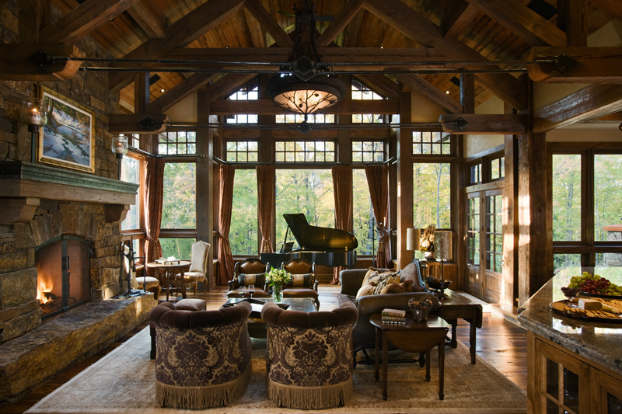 rustic living room decorating idea 11