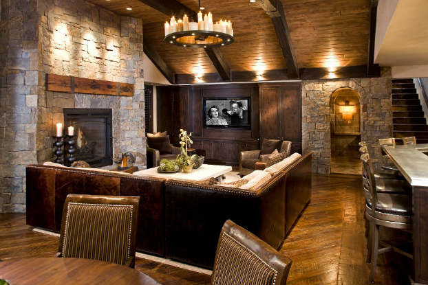 Rustic Design Ideas 11 tin ceiling heavy wood unique atmosphere Rustic Living Room Decorating Idea 2 Rustic Design Ideas
