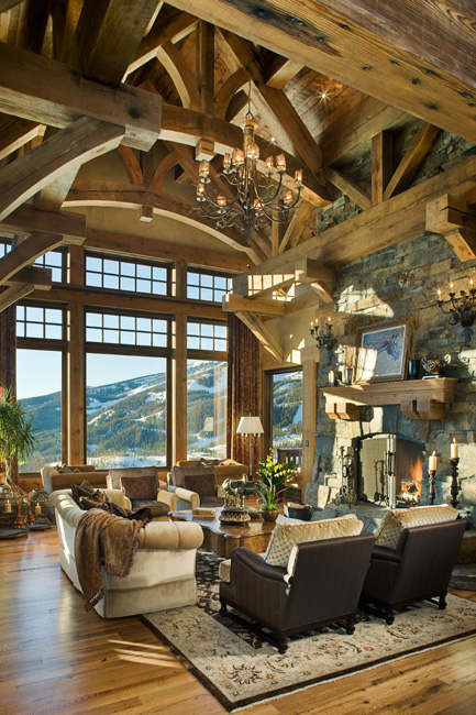 40 awesome rustic living room decorating ideas decoholic for Awesome home interiors