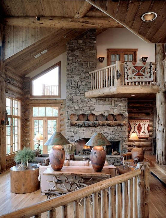 rustic living room decorating idea 16
