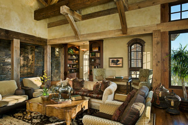 Beau ... Rustic Living Room Decorating Idea 4 ...