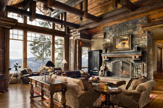 Wonderful ... Rustic Living Room Decorating Idea 6 ...