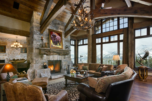 rustic living room decorating idea 8