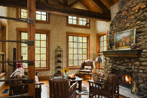 rustic living room decorating idea 9