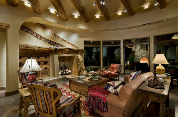 rustic living room decorating idea 27