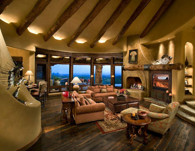 rustic living room decorating idea 28