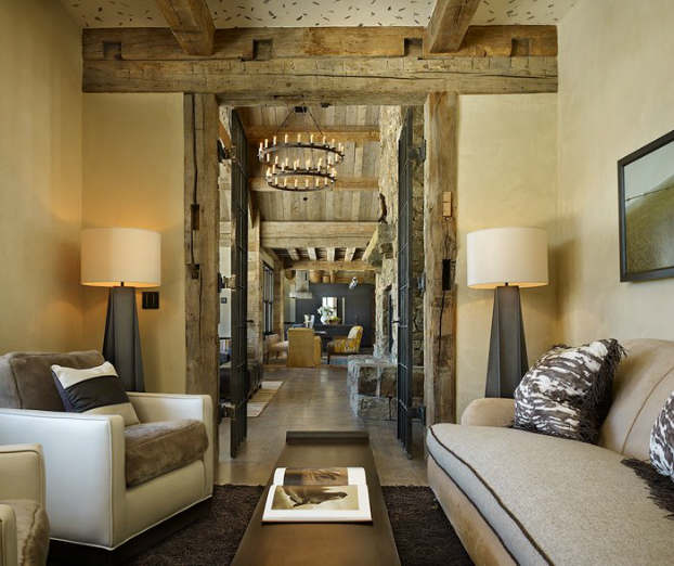 rustic living room decorating idea 30