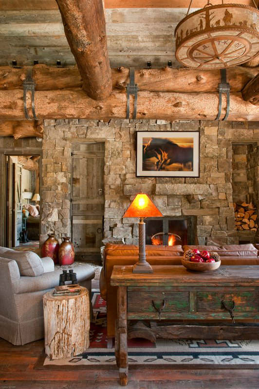 rustic living room decorating idea 32