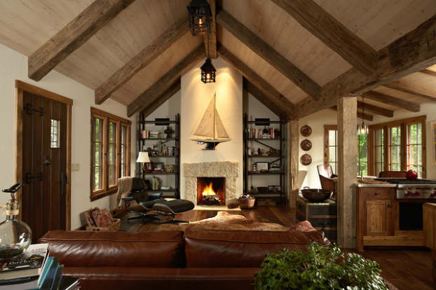 rustic living room decorating idea 20