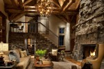 rustic living room decorating idea 13