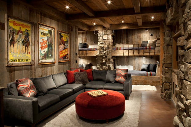 Rustic Living Room Decorating Idea 14