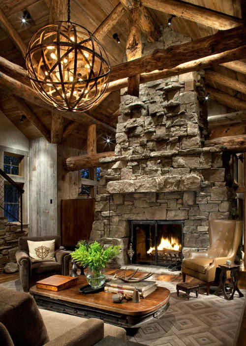 rustic living room decorating idea peace design 15