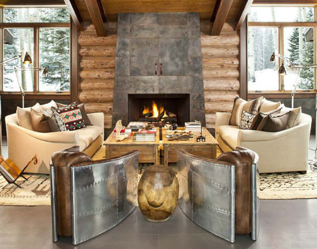 Rustic Living Room Decorating Idea