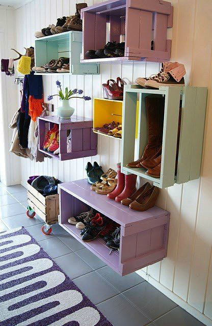 shoe storage Innovatively boxed up