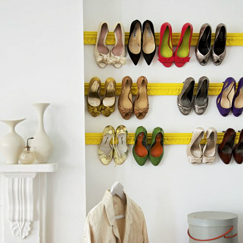 Mantle to hang your shoes on
