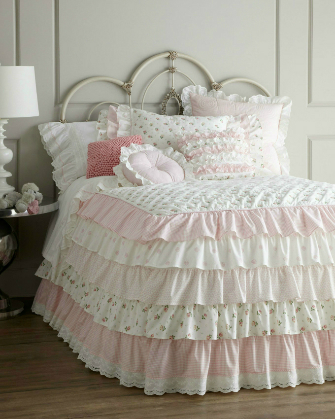 ruffles plus pink gingham and lace